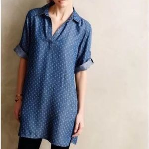 Anthropologie/ Cloth and Stone/ Chambray Tunic